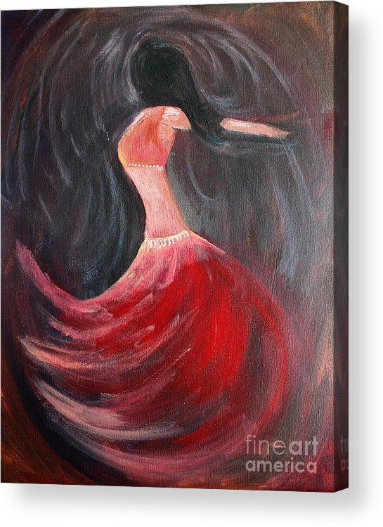 Belly Dancers Acrylic Print featuring the painting Belly Dancer 3 by Julie Lueders
