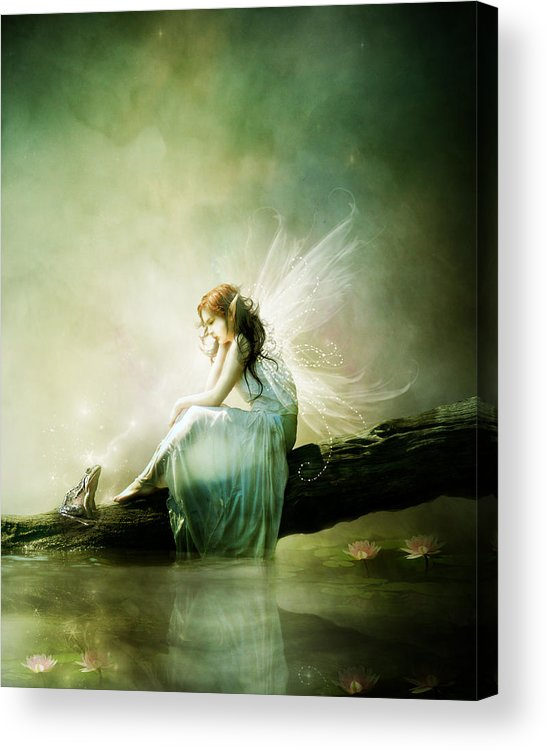 Fairy Acrylic Print featuring the digital art Best Of Friends by Mary Hood