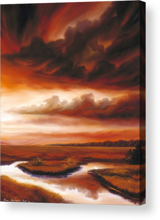 Contemporary Acrylic Print featuring the painting Black Fire by James Christopher Hill