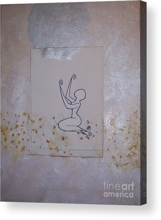Prayer Acrylic Print featuring the mixed media Blessed Be by Nico Kwan Phillips