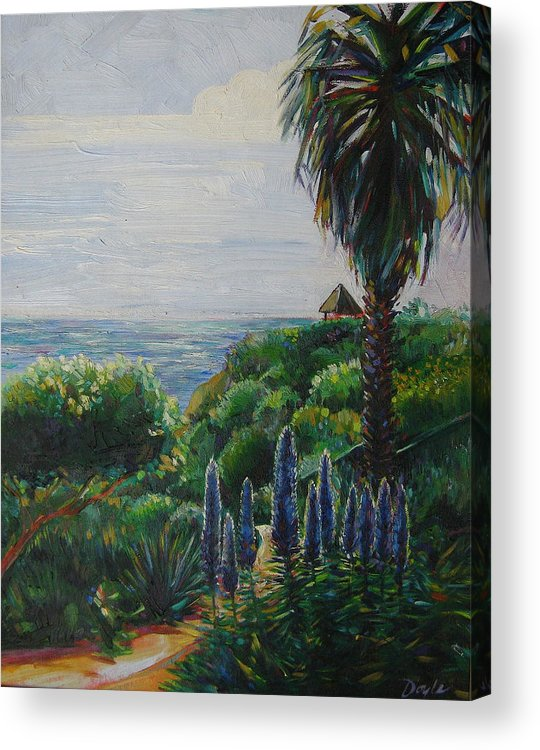 Beach Acrylic Print featuring the painting Blue Flowers by Karen Doyle