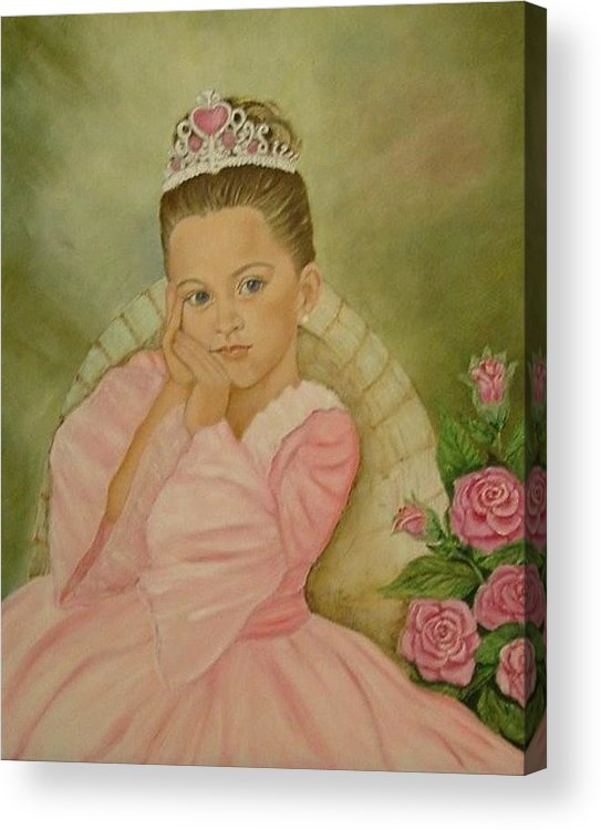 Princess Acrylic Print featuring the painting Brianna - The Princess by Tresa Crain
