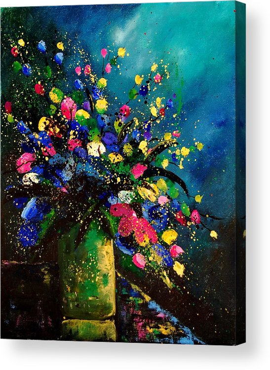 Poppies Acrylic Print featuring the painting Bunch 45 by Pol Ledent