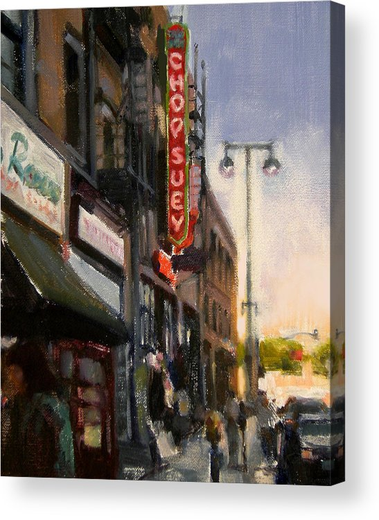 Restaurant Acrylic Print featuring the painting Chop Suey by Merle Keller