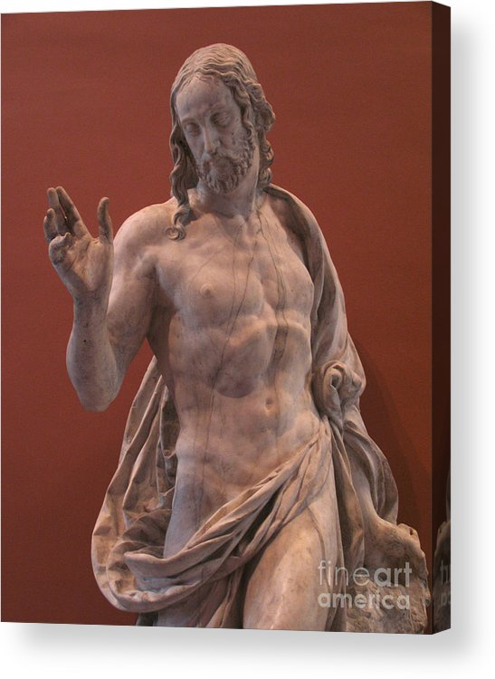 Christ Acrylic Print featuring the photograph Christ Statue. The Louvre by Tom Tripp