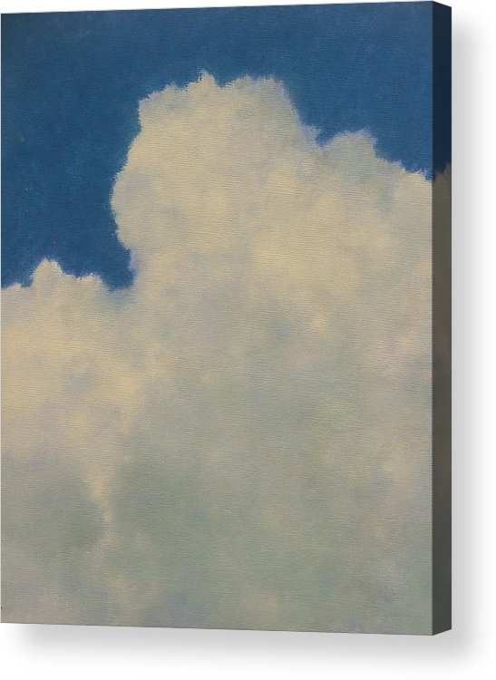 Nature Acrylic Print featuring the painting Clouds Illusions by Gary Kaemmer