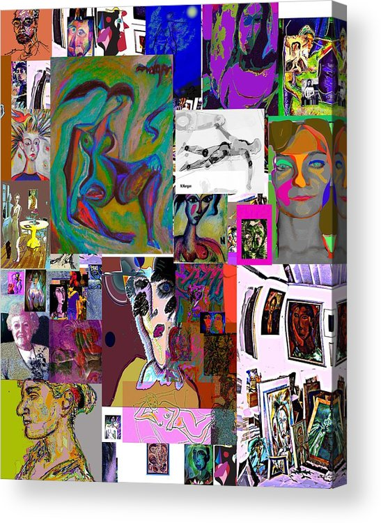 Collage Acrylic Print featuring the painting Collage 9 by Noredin Morgan