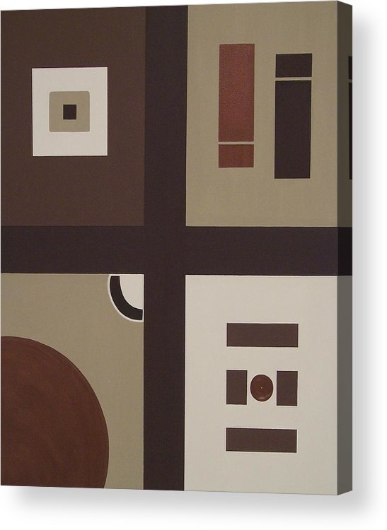 Earthtones Acrylic Print featuring the painting Colors Without Purpose 2 by Sandy Bostelman