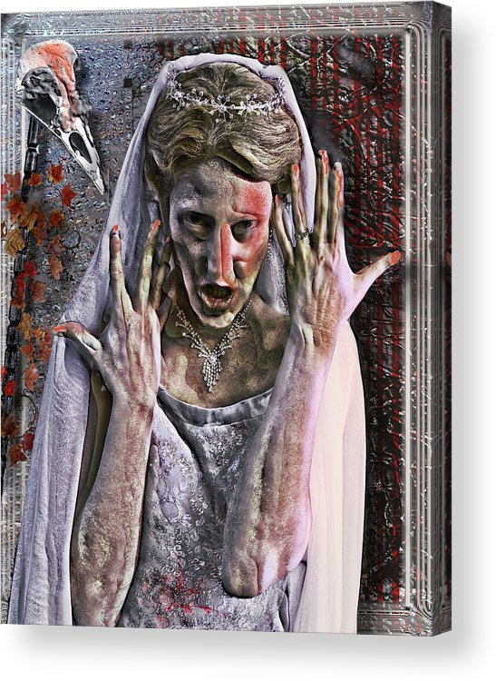 Freedom Acrylic Print featuring the digital art Coming Unframed by Mimulux patricia No
