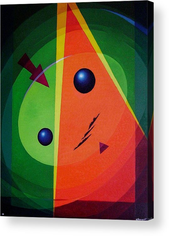 #abstract Acrylic Print featuring the painting Compass by Alberto DAssumpcao