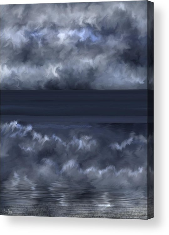 Seascape Acrylic Print featuring the painting Convergence Zone by Anne Norskog