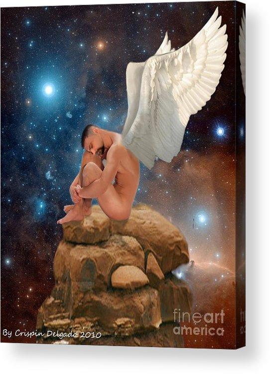 Fairy Acrylic Print featuring the digital art Cosmic Skies by Crispin Delgado