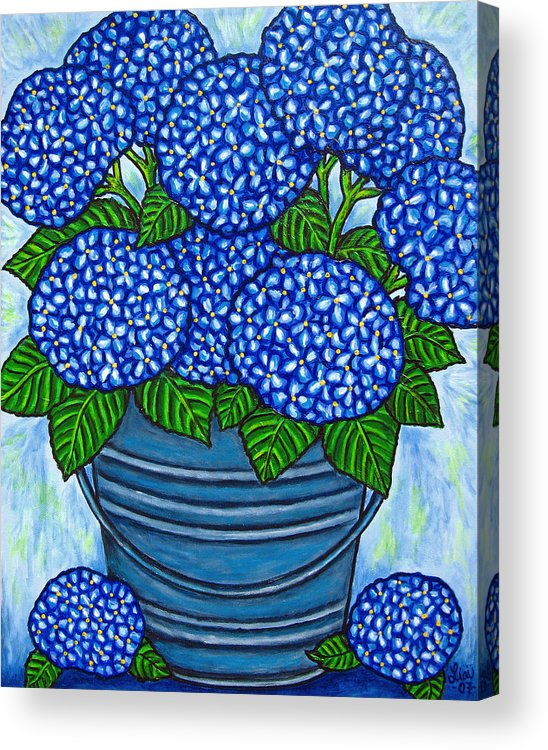 Blue Acrylic Print featuring the painting Country Blues by Lisa Lorenz