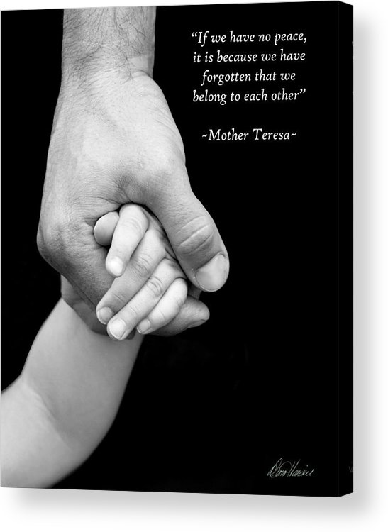 Hand Acrylic Print featuring the photograph Daddy's Hand by Diana Haronis