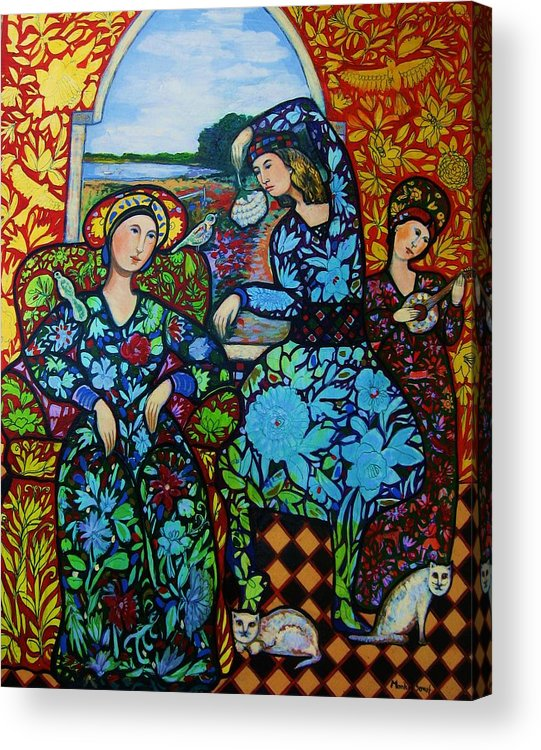 Newburyport Acrylic Print featuring the painting Dancing In Newburyport by Marilene Sawaf