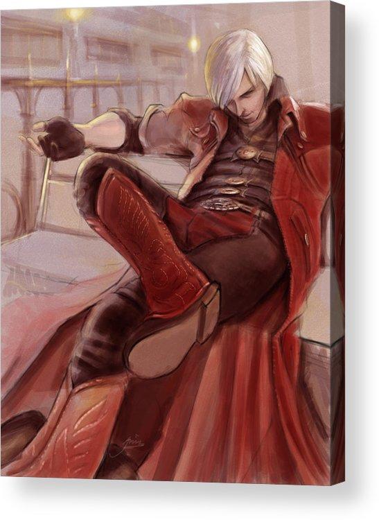 Dante Acrylic Print featuring the digital art Dante by Alvin Goh