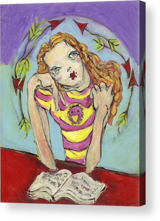 Whimsical Art Acrylic Print featuring the painting Day Dreamer by Michelle Spiziri