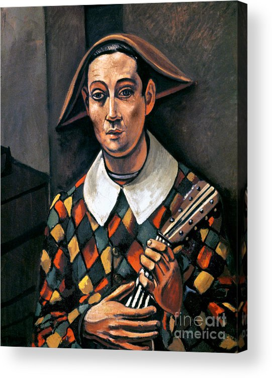 1919 Acrylic Print featuring the photograph Derain: Harlequin, 1919 by Granger
