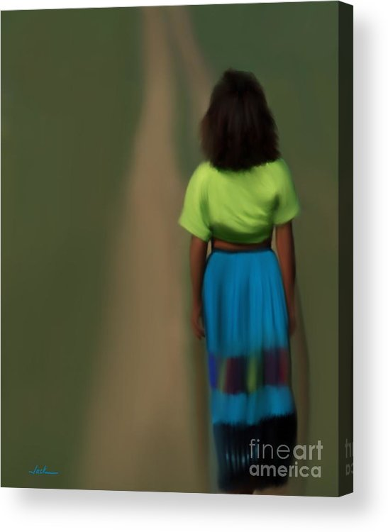 Diana Acrylic Print featuring the painting Diana by Jack Bunds