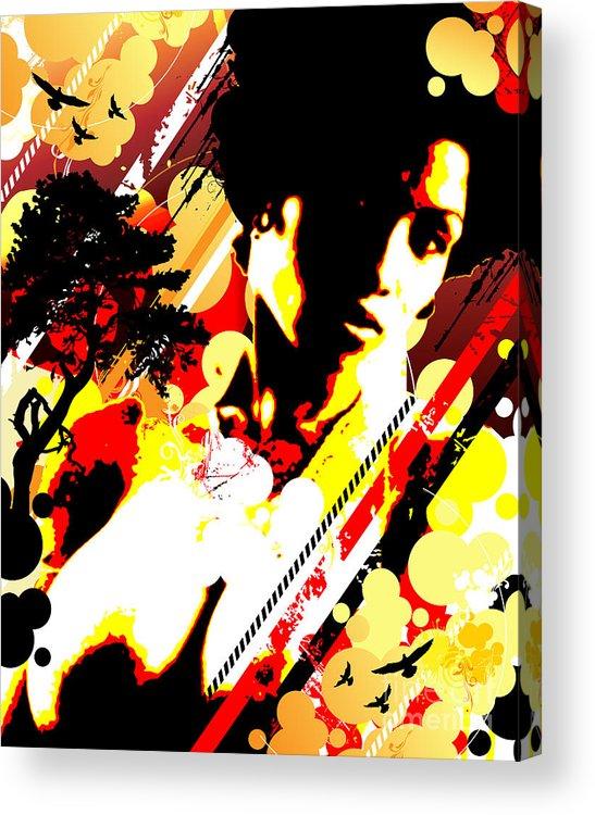 Nostalgic Seduction Acrylic Print featuring the digital art Dim Sunrise by Chris Andruskiewicz