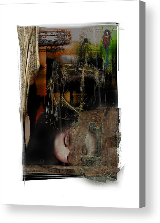 Portrait Acrylic Print featuring the digital art Down by Nuff