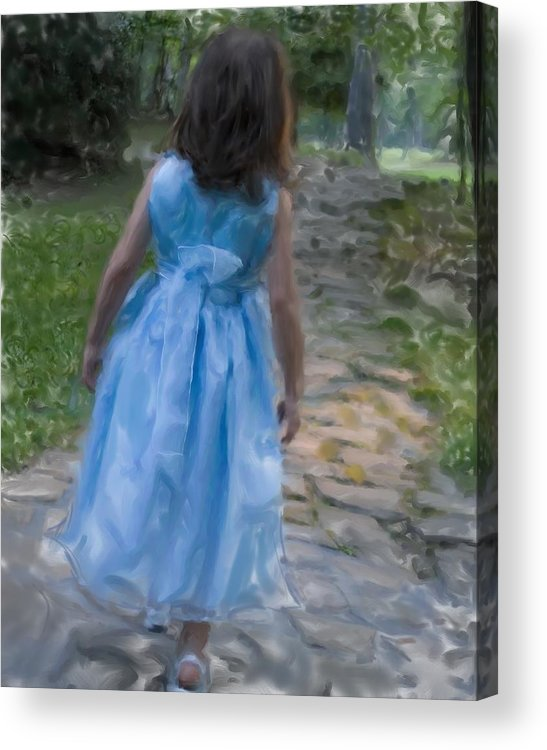 Art Acrylic Print featuring the photograph Down The Path by Sandy Belk