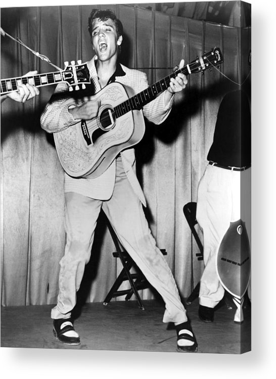 1950s Portraits Acrylic Print featuring the photograph Elvis Presley, C. Mid-1950s by Everett