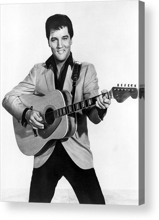 1950s Portraits Acrylic Print featuring the photograph Elvis Presley, C. Mid-1960s by Everett