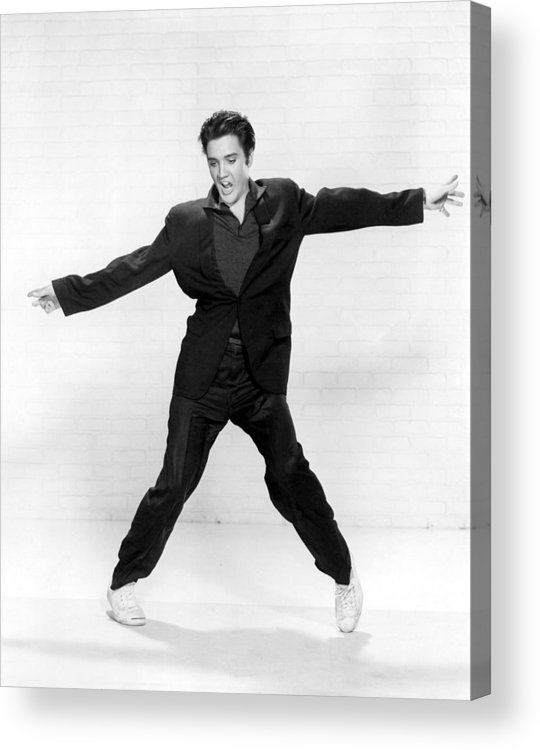 1950s Acrylic Print featuring the photograph Elvis Presley by Everett