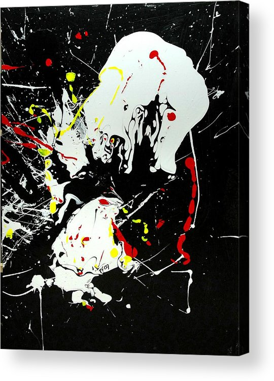 Abstract Acrylic Print featuring the painting Encounter 2 by Paul Freidin