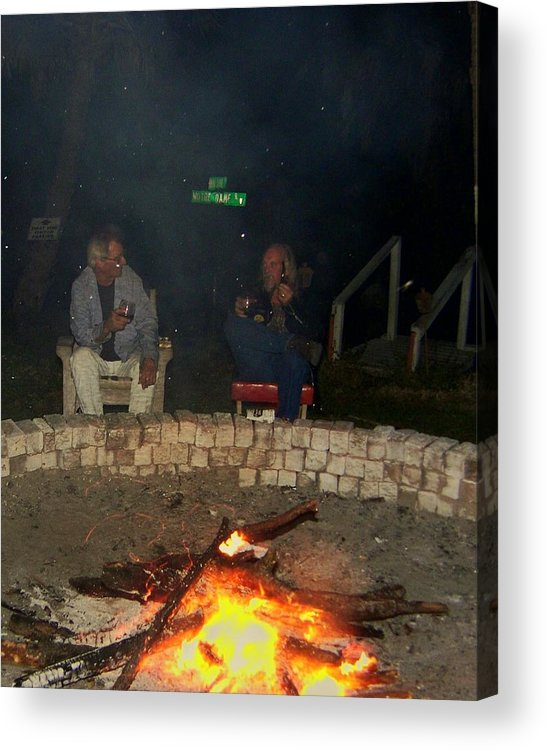 Fire Pit Acrylic Print featuring the photograph evening in Florida by Charles Peck