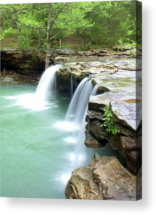 Falling Water Falls Acrylic Print featuring the photograph Falling Water Falls 5 by Marty Koch