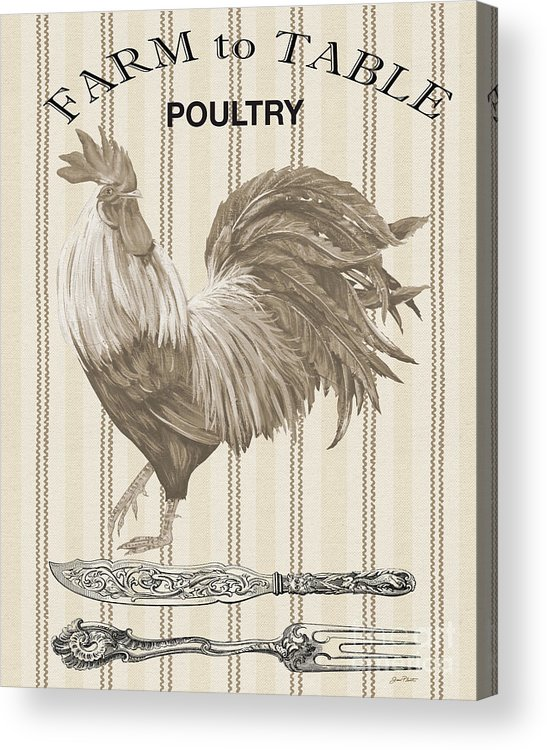Poultry Acrylic Print featuring the digital art Farm To Table-jp2110 by Jean Plout