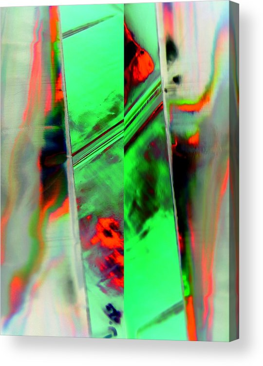 Abstract Acrylic Print featuring the digital art Final Curtain by Florene Welebny