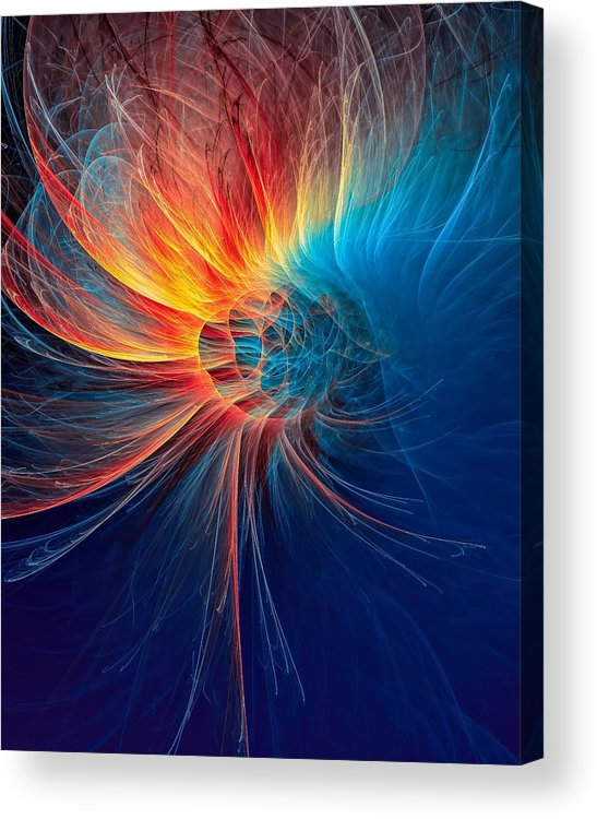 Fire Wind Acrylic Print featuring the digital art Fire Wind by Marfffa Art