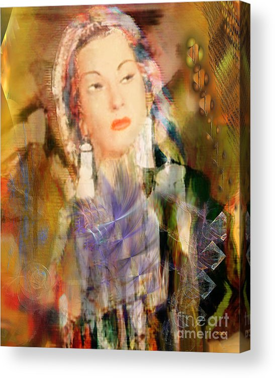 Acrylic Print featuring the digital art Five Octaves - Tribute To Yma Sumac by John Beck