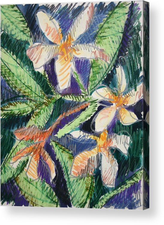 Flower Acrylic Print featuring the painting Flora Exotica by Dodd Holsapple