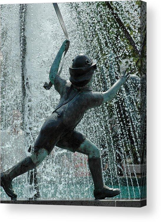 Usa Acrylic Print featuring the photograph Frankenmuth Fountain Boy by LeeAnn McLaneGoetz McLaneGoetzStudioLLCcom