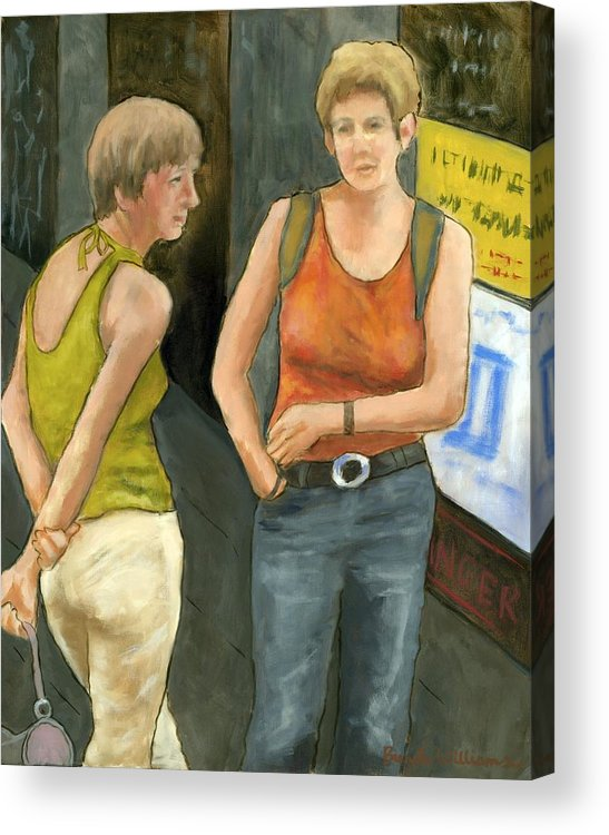 Figurative Acrylic Print featuring the painting Galway Afternoon by Brenda Williams