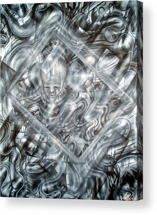 Alien Acrylic Print featuring the painting Genius by Leigh Odom