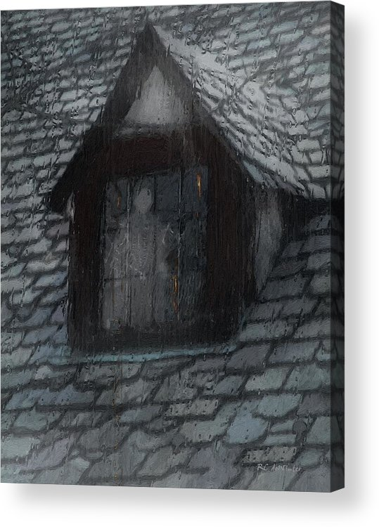 Ghost Acrylic Print featuring the painting Ghost Rain by RC DeWinter