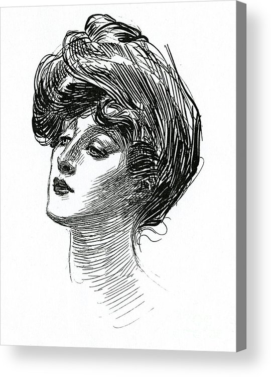 Gibson Acrylic Print featuring the drawing Gibson Girl 1902 by Charles Dana Gibson