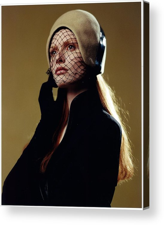 Female Acrylic Print featuring the photograph Girl In Net Hat by Rusty Walton