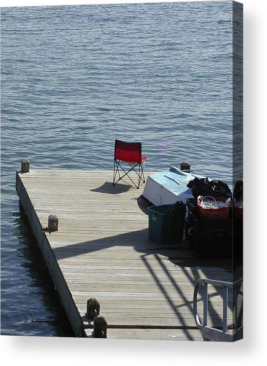 Fishing Acrylic Print featuring the photograph Gone Fishing by Faith Harron Boudreau