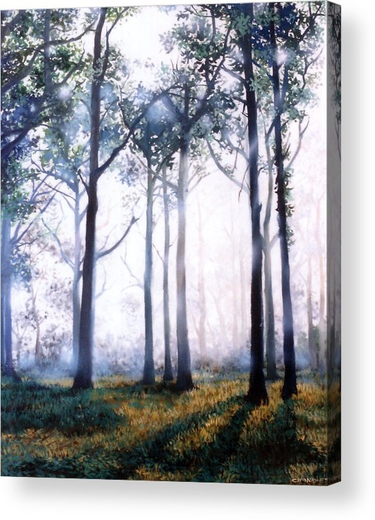 Oil Acrylic Print featuring the painting Good Morning by Chonkhet Phanwichien