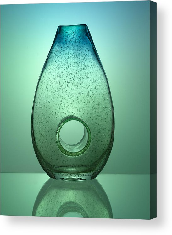 Vase Acrylic Print featuring the photograph Green And Blue by Jessica Wakefield