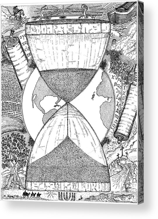 Mccarthy Art Acrylic Print featuring the drawing Hourglass by Glenn McCarthy Art and Photography