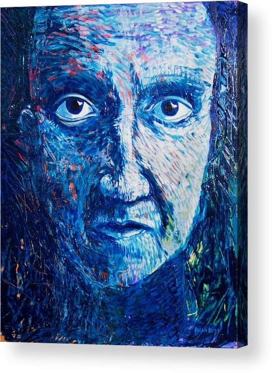 Blue Acrylic Print featuring the painting I See You In So Many Ways by Rollin Kocsis