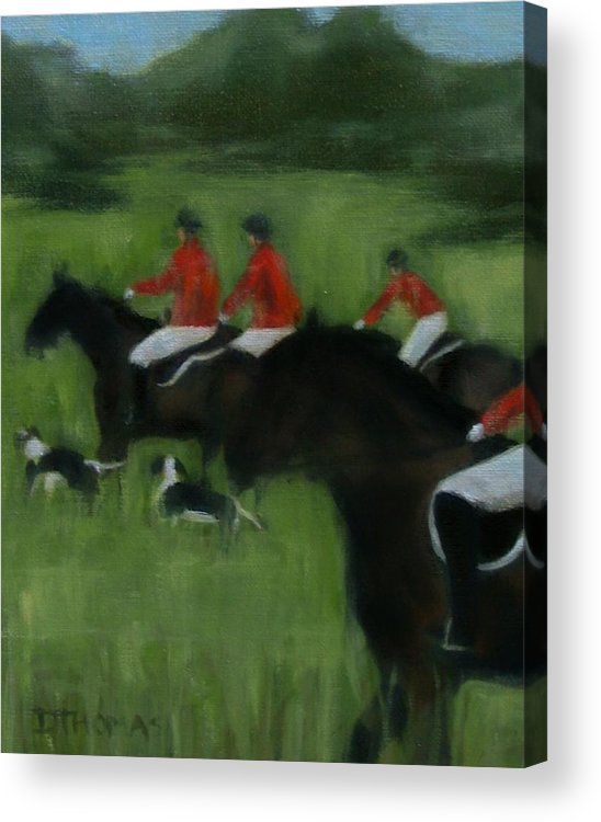 Horse Acrylic Print featuring the painting In Pursuit by Donna Thomas
