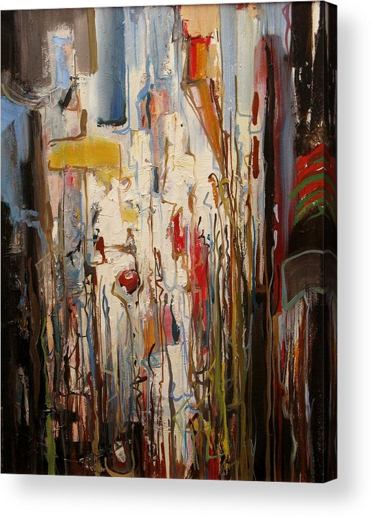 Abstract Acrylic Print featuring the painting In The Morning by David McKee